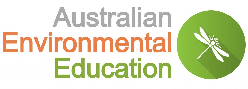 Australian Environmental Education logo with dragonfly