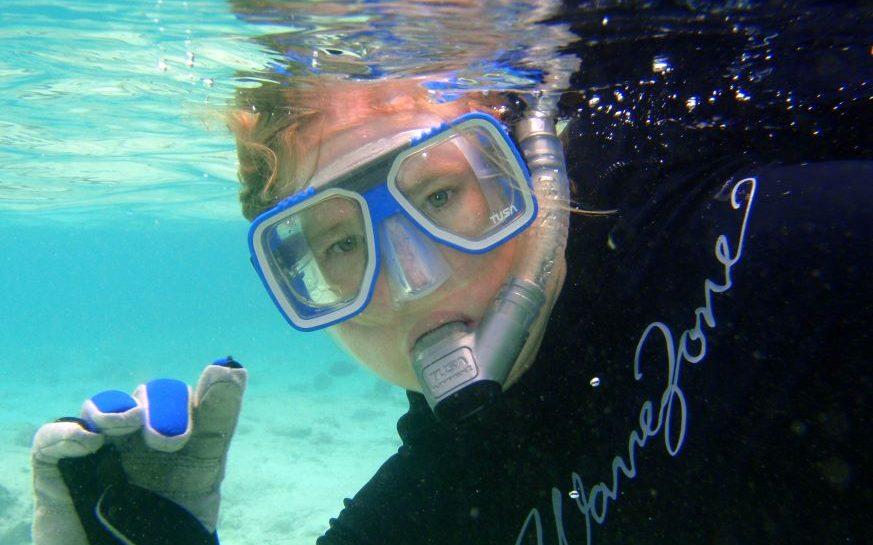 Karen underwater snorkeling